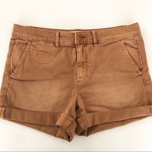 Anthropologie Chino Relaxed Fit Shorts Roll Cuff